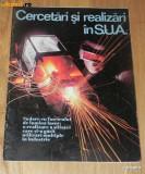 REVISTA PROPAGANDA CERCETARI SI REALIZARI IN SUA cu ocazia  Ceausescu in SUA