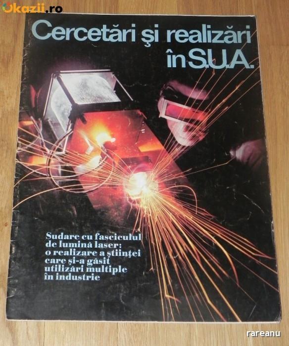 REVISTA PROPAGANDA CERCETARI SI REALIZARI IN SUA cu ocazia  Ceausescu in SUA foto mare