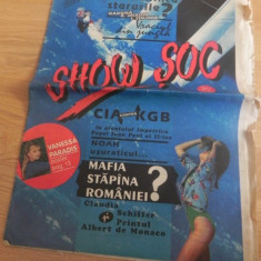 REVISTA SHOW SOC NR 2. REVISTA PENTRU TINERI. ANII 90. MUZICA, FILM