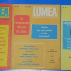LOT 5 REVISTE LUMEA - 1981, 1989