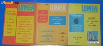 LOT 5 REVISTE LUMEA - 1981, 1989 foto