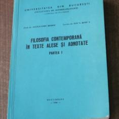 ALEXANDRU BOBOC, ION N ROSCA - FILOSOFIA CONTEMPORANA IN TEXTE ALESE SI ADNOTATE - Filosofie