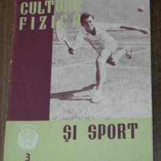 REVISTA CULTURA FIZICA SI SPORT NR 3 / 1962 - Carte sport