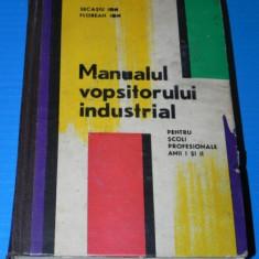 MANUALUL VOPSITORULUI INDUSTRIAL - SCOLI PROFESIONALE ANII I -II - SECASIU ION