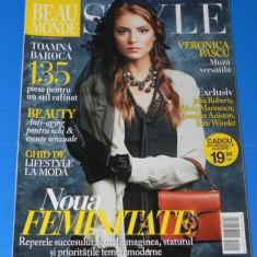 REVISTA BEAU MONDE STYLE - NR 11 / 2012 (00638 - Revista femei