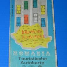 ROMANIA HARTA TURISTICA. In limba germana