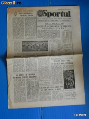ZIARUL SPORTUL 8 IUNIE 1988 - AVANPREMIERA ETAPA A 31-A - STEAUA -DINAMO (01028 foto