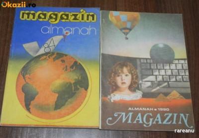 lot 2 almanahuri ALMANAH MAGAZIN 1984 si 1990 foto