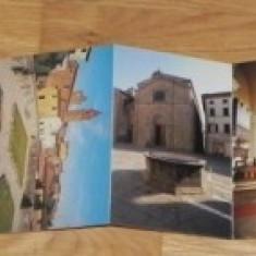 MAPA PLIANT 8 CARTI POSTALE MONTE SAN SAVINO ITALIA vederi ilustrate necirculate, Necirculata, Printata
