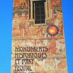 PLIANT turistic MONUMENTE ISTORICE SI DE ARTA FEUDALA DIN ROMANIA. In limba franceza
