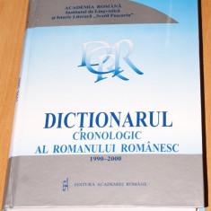 DICTIONARUL CRONOLOGIC AL ROMANULUI ROMANESC. 1990-2000