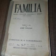 FAMILIA - REVISTA ASOCIATIEI SCRIITORILOR ROMANI DIN ARDEAL -NR 5-7 / 1943 - Revista culturale