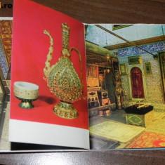 MAPA PLIANT 12 carti postale arta topkapi ISTANBUL TURCIA. vederi. ilustrate, Necirculata, Printata