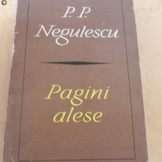 P. P. NEGULESCU - PAGINI ALESE - Filosofie