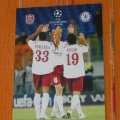 Program fotbal - CHAMPIONS LEAGUE - CFR CLUJ - CHELSEA LONDRA 1 OCTOMBRIE 2008 - Program meci