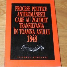PROCESE POLITICE ROMANESTI CARE AU ZGUDUIT TRANSILVANIA IN TOAMNA ANULUI 1848 - Istorie