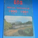 MERSUL TRENURILOR CFR 27 MAI 1990 - 1 IUNIE 1991(00698