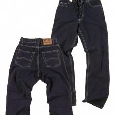 Pantaloni barbati gri inchis - talie inalta - LOTUS jeans W31,32 (Art.132-134), Negru