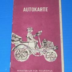 ROMANIA AUTOKARTE HARTA AUTO1976 - LIMBA GERMANA (00656 - Harta Turistica