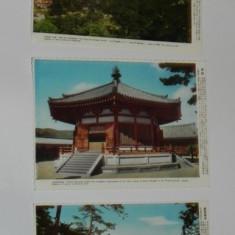 LOT 3 CARTI POSTALE JAPONIA. TOUSHOUDAI TEMPLE. UMEDONO. NECIRCULATE vederi, Necirculata, Printata