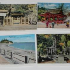 LOT 4 CARTI POSTALE JAPONIA. kamakura . NECIRCULATE. vederi. ilustrate, Necirculata, Printata