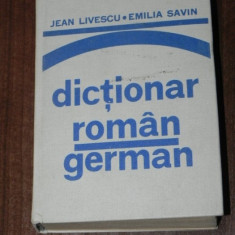 Jean livescu, Emilia savin - Dictionar roman - german