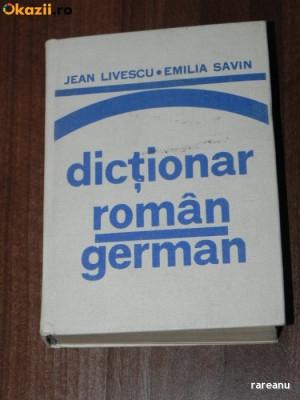 Jean livescu, Emilia savin - Dictionar roman - german foto