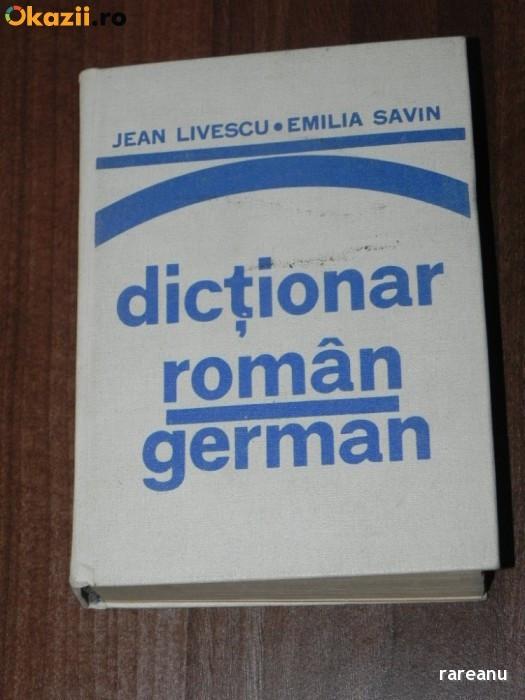 Jean livescu, Emilia savin - Dictionar roman - german foto mare
