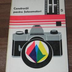 LEONIDA TANASESCU - CONSTRUCTII PENTRU FOTOAMATORI. COLECTIA FOTO FILM NR. 5 - Carte Fotografie