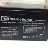 Acumulator 12V - 12 Ah VRLA gel - plumb pentru UPS si alarma.