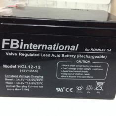 Acumulator 12V - 12 Ah VRLA gel - plumb pentru UPS si alarma. APC