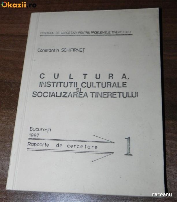CONSTANTIN SCHIFIRNET - CULTURA. INSTITUTII CULTURALE SI SOCIALIZAREA TINERETULUI. RAPOARTE DE CERCETARE foto mare