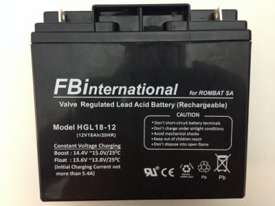 Acumulator etans 12V-18Ah cu gel si plumb VRLA pentru UPS si alarma etc foto