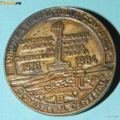 INSIGNA SANTIERUL TINERETULUI CANALUL DUNARE MAREA NEAGRA 1976 - 1984 cc al UTC - Insigna fotbal