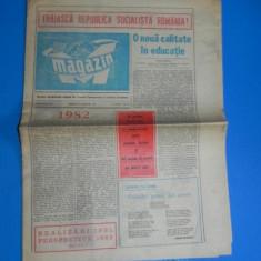 Ziarul REVISTA MAGAZIN 26 DECEMBRIE 1981 (01080