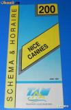 PLIANT ORAR TANSPORT ALPI IUNIE 1991 NICE CANNES