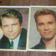2 SURPRIZE KENT SUPER STAR ACTORI / ARTISTI WARREN BEATTY ARNOLD SCHWARZENEGGER - Colectii