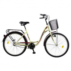 Bicicleta de oras DHS, 19 inch, 26 inch, Numar viteze: 18, Aluminiu, Gri metalizat
