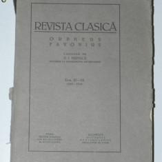 REVISTA CLASICA ORPHEUS FAVONIUS CONDUSA DE N I HERESCU - TOM XI-XII, 1939-1940
