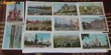 LOT 11 CARTI POSTALE MOSCOVA RUSIA URSS. NECIRCULATE. ilustrate. vederi, Necirculata, Printata