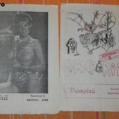 2 NUMERE REVISTA VAMPIRII 1990 NR 4 SI 5. CONTIN NUVELA LABIRINTUL DE DONALD CHETWYND-HAYES - Carte Horror