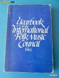 YEARBOOK OF THE INTERNATIONAL FOLK MUSIC COUNCIL VOL 1 1969. etnomuzicologie
