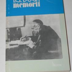 I G DUCA - MEMORII VOL 2 -- NEUTRALITATEA PARTEA A 2-A (1915-1916) - Biografie