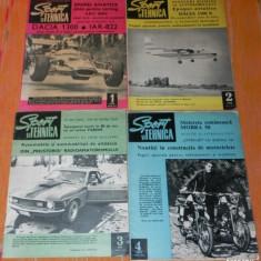 REVISTA SPORT SI TEHNICA - 1970 nr 1, 2, 6, 7, 8, 9, 10, 11, 12 - Carte sport