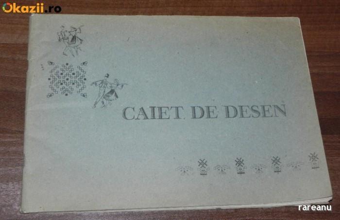 de colectie vintage CAIET DE DESEN CU DANSATORI POPULARI PE COPERTA EPOCA DE AUR foto mare