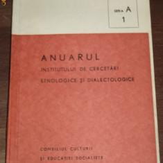 RARITATE. ANUARUL INSTITULUI DE CERCETARI ETNOLOGICE SI DIALECTOLOGICE 1979 SERIA A NR. 1.STUDII DESPRE DANSURI, OBICEIURI TRADITIONALE, MUZICOLOGIE - Carte folclor