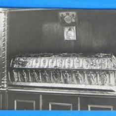 Carte postala SICRIUL SFANTULUI GRIGORIE DECAPOLITUL IN MANASTIREA BISTRITA VALCEA J FISCHER (sibiu) 1930 NECIRCULATA (v042 - Carte Postala Oltenia dupa 1918