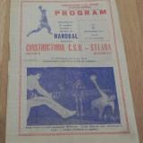 PROGRAM HANDBAL CONSTRUCTORUL CSU ORADEA - STEAUA BUCURESTI  17 SEPTEMBRIE 1981