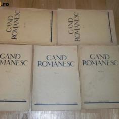 Revista GAND ROMANESC . NR 1-2, 3, 5, 6, 7-8 - 1934 / ANUL II. gandul romanesc - Revista culturale