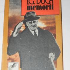I G DUCA - MEMORII vol 1 Neuralitatea partea 1 1914-1915 - Biografie